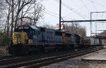 CSX Q300-20 Departs Woodbourne - 3/20/2011